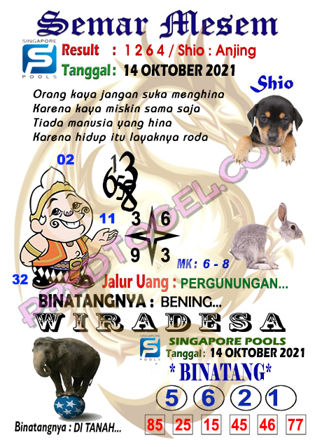 Syair Semar Mesem Sgp45 Kamis 14-Oktober-2021