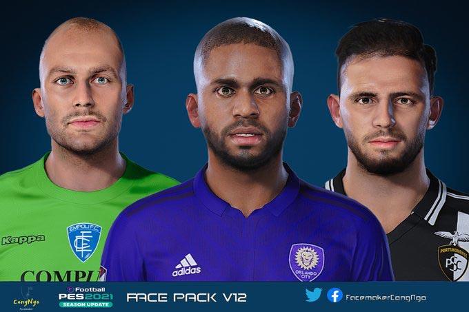 Facepack V12 2021 For eFootball PES 2021