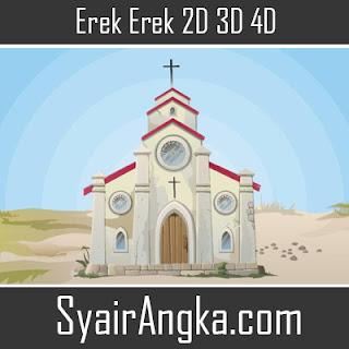 Erek Erek Gereja 2D 3D 4D di Buku Mimpi dan Kode Alam
