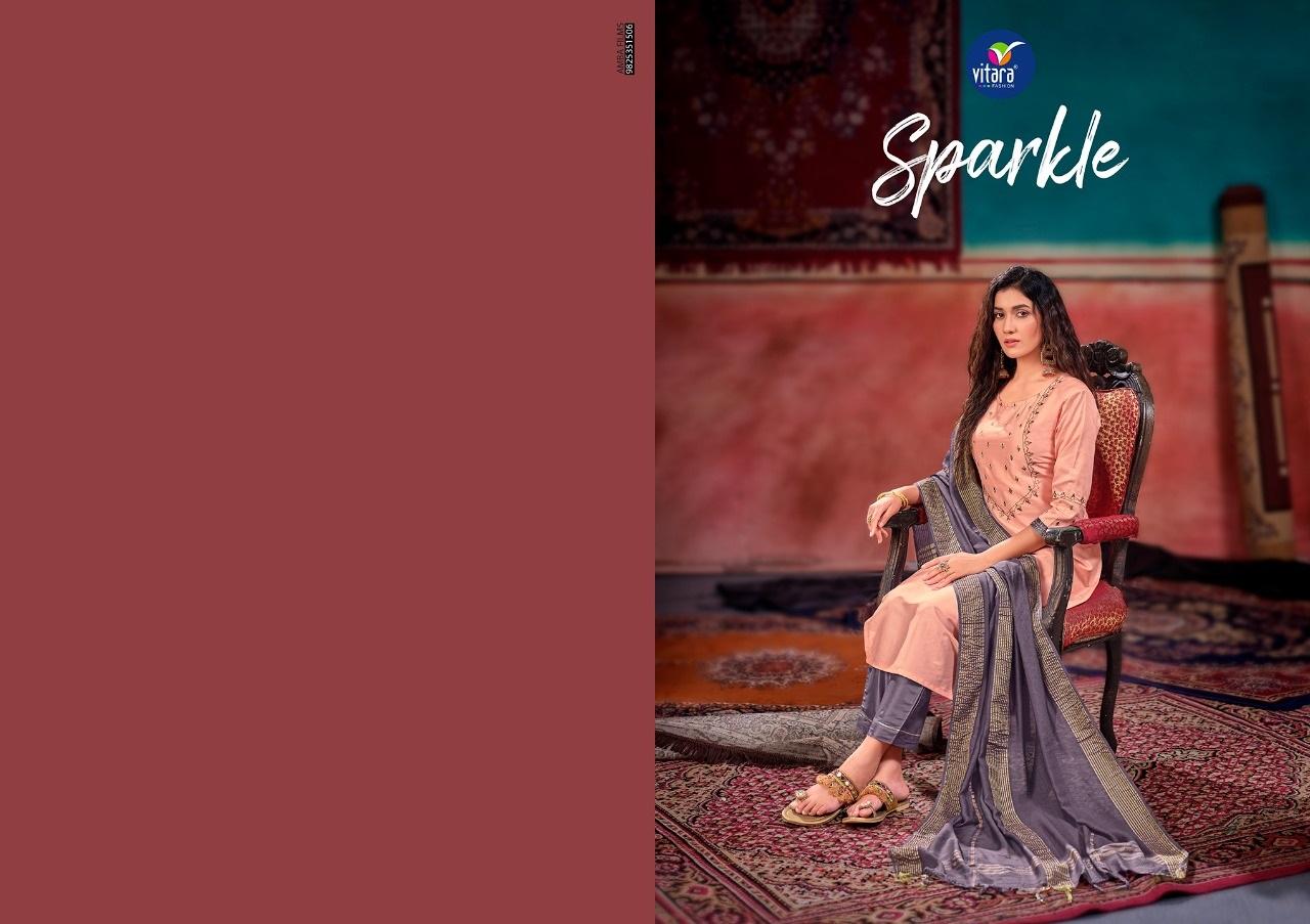 Vitara Sparkle Readymade Pant Style Suits Catalog Lowest Price