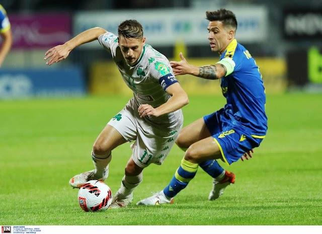 Αστέρας Τρίπολης - Παναθηναϊκός: Του έβαλε δύσκολα το γύρισε και νίκησε ο Αστέρας (2-1)