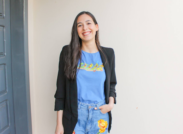 Look camiseta dos Simpsons!