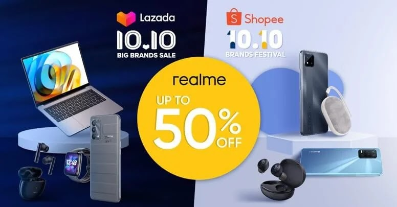 realme's Lazada and Shopee 10.10 Offers