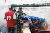 Serka H.Situmorang Babinsa Koramil 08/Mandah Kodim 0314/Inhil Sosialisasikan Protokes di Pelabuhan Bod pasar igal