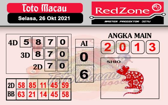 Redzone Macau Selasa 26 Oktober 2021