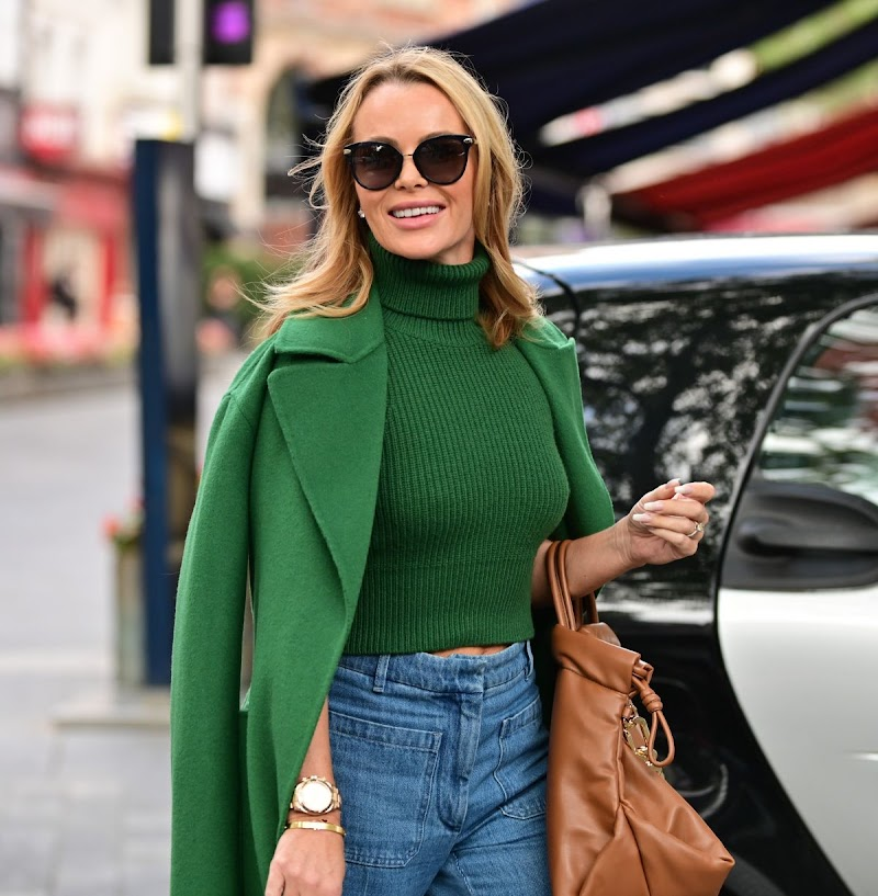 Amanda Holden Spotted At Heart Radio in London 28 Oct -2021