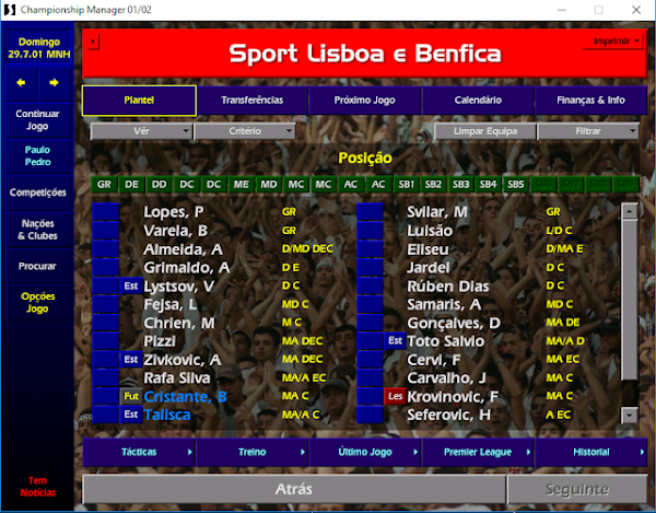 Championship Manager 01/02 fez 20 anos!
