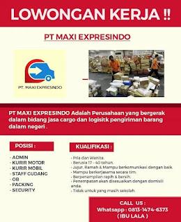 Lowongan Kerja PT.MAXI EXPRESINDO (CargoEkspedisi)
