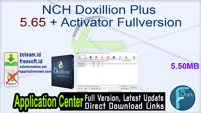NCH Doxillion Plus 5.65 + Activator Fullversion