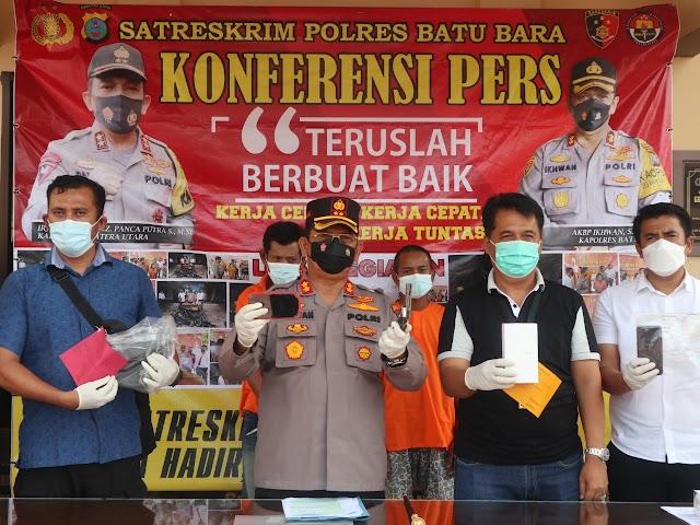 AKBP H. Ikhwan Lubis, SH. MH., Pimpin Konferensi Pers 2 Kasus Tindak Pidana Pencurian