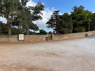 Gouverneto Monastery - parking area and south gate.