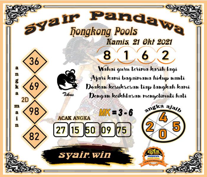 Syair Pandawa HK Kamis 21 Oktober 2021