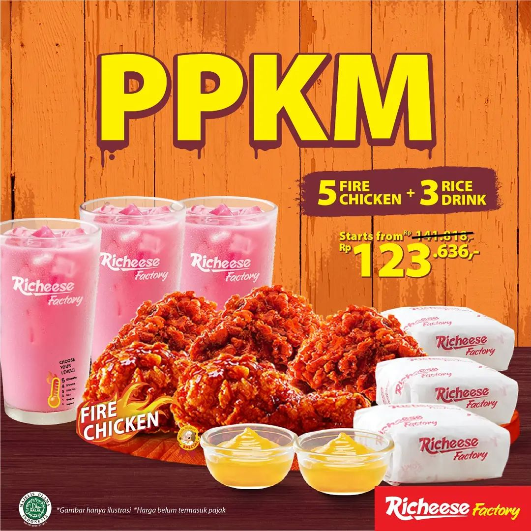Promo Richeese Factory PPKM mulai Rp. 123.636