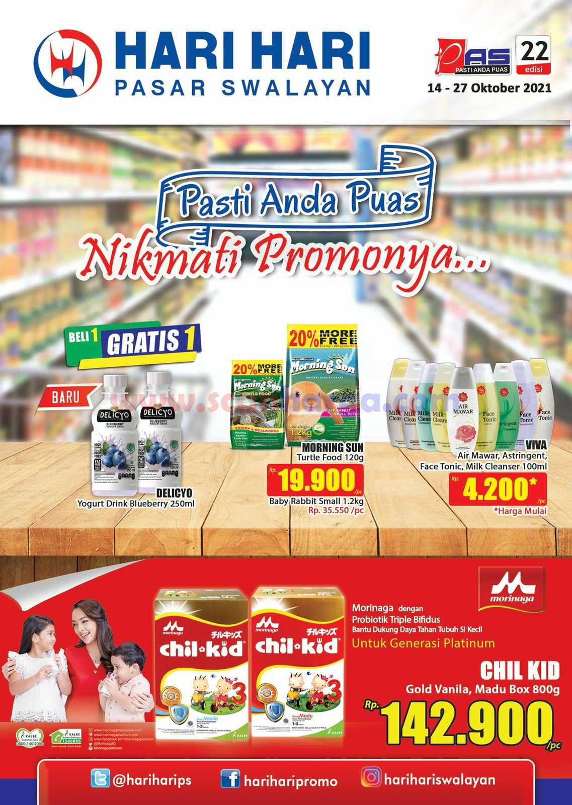 Katalog Promo Hari Hari Pasar Swalayan 14 - 27 Oktober 2021