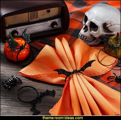 Bat Napkin Ring  Halloween Napkin Rings Spooky Napkin Ring  Halloween Table Decor