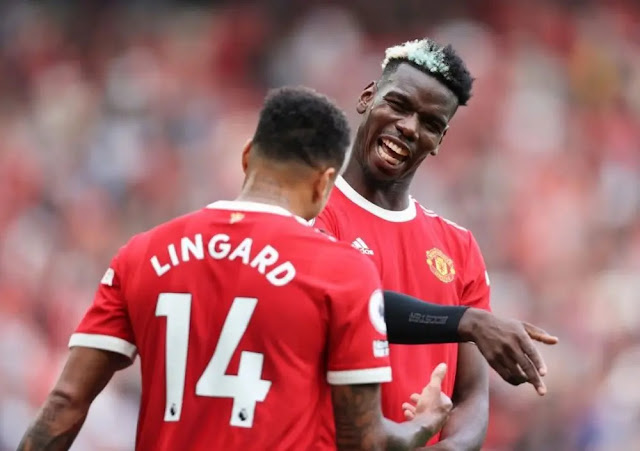 Lingard is ready to part with Pogba. Photo: Getty