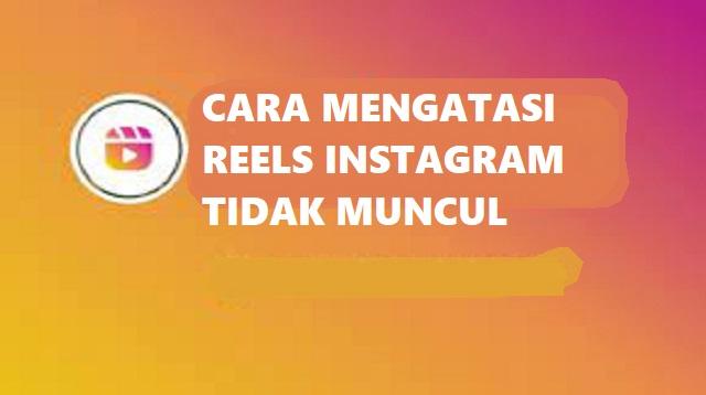 Cara Mengatasi Reels Instagram Tidak Muncul