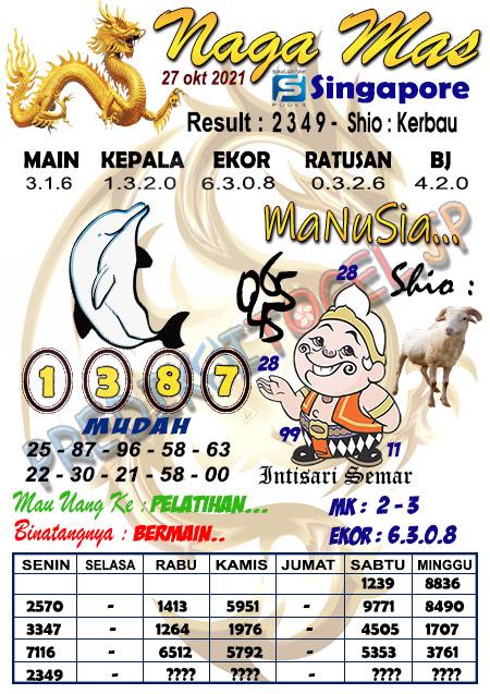 Syair Naga Mas SGP Rabu 27 Oktober 2021