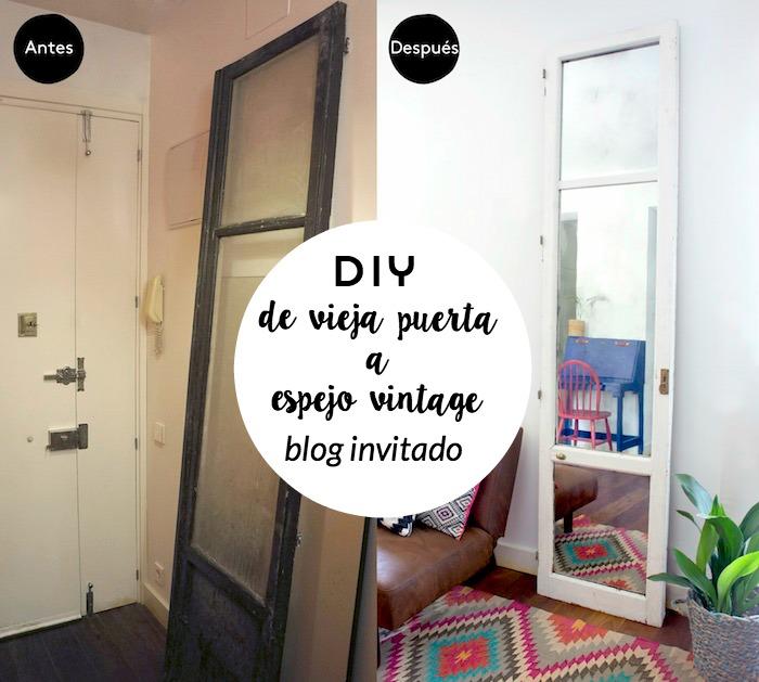 Puerta convertida en espejo