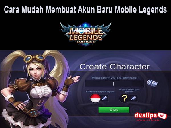 Cara Mudah Membuat Akun Baru Mobile Legends