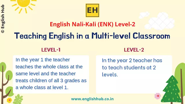 ENK Level 2: Teaching English in a Multi-level Classroom