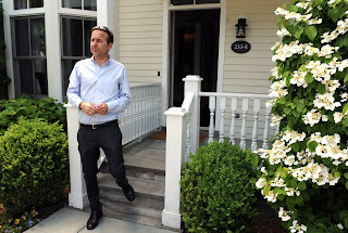 Picture of David Haffenreffer outside the beautiful house