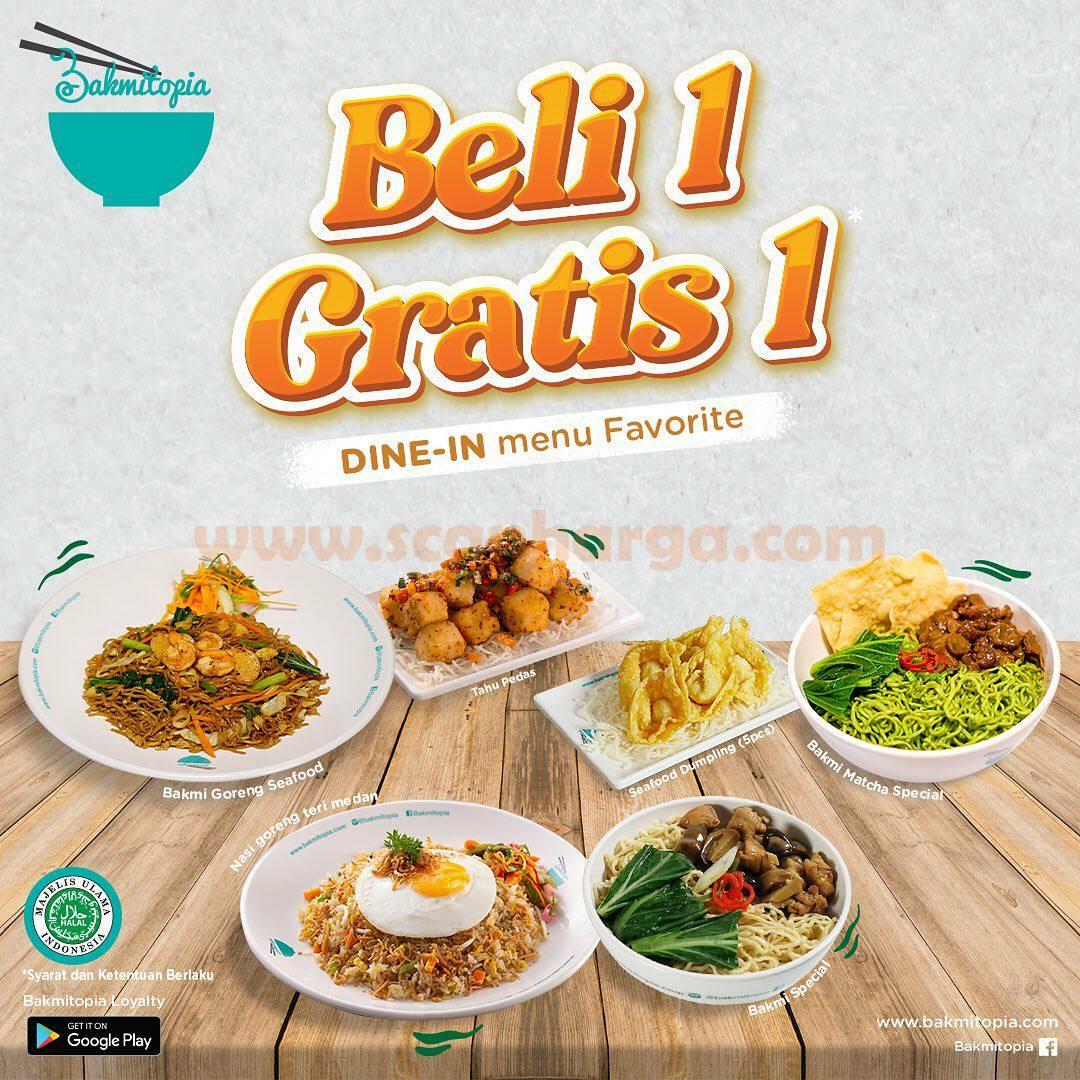Promo BAKMITOPIA Terbaru BELI 1 GRATIS 1