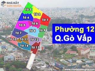 Bản đồ quy hoạch lộ giới hẻm phường 12 quận Gò Vấp HCM