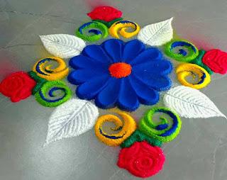 Lotus Rangoli Designs