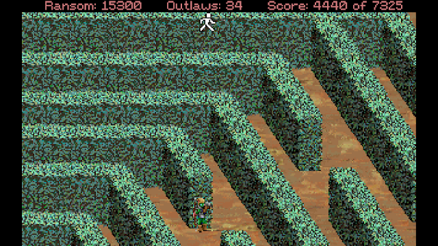 Screenshot of the maze in Conquests of the Longbow