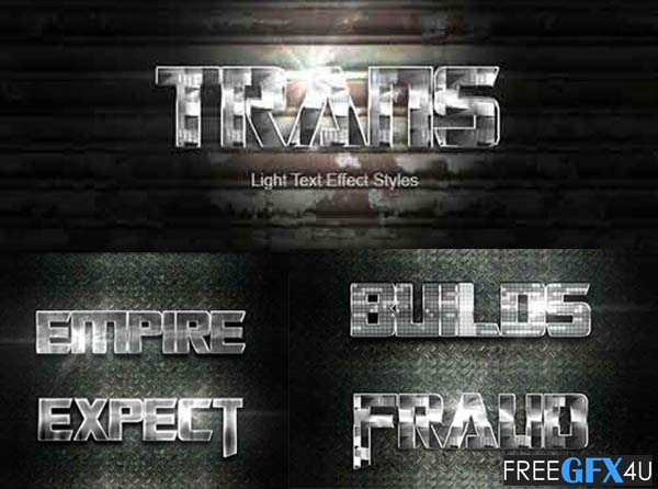 Trans Silver Text Effect V3