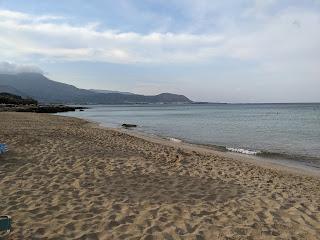 Falassarna beach early morning.