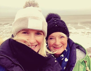 Sarah Stirk clicking selfie with her mom Anne
