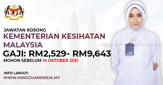 Jawatan Kosong KKM ~ Gaji RM2,529 - RM9,643 / Mohon Sebelum 14 Oktober 2021. Khas kepada anda yang sedang mencari pekerjaan dan berminat untuk menjawat jawatan kosong terkini yang tertera pada halaman Mingguan Kerja.