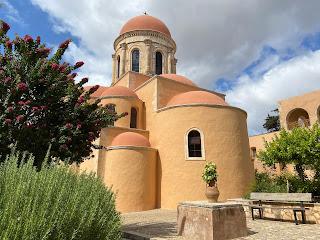 Back of the church of Agia Triada Monastery.
