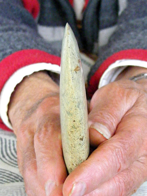 Neolithic jadeite axe, private collection, Indre et Loire, France. Photo by Loire Valley Time Travel.