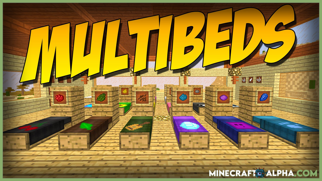 MultiBeds Mod 1.16.5 (Decorating with Different Beds)