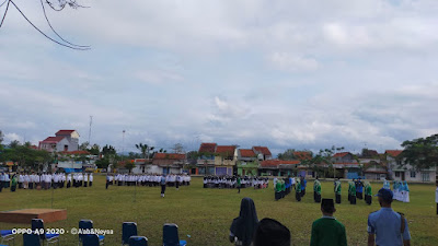 Hari Santri Nasional, Yayasan Pondok Pesantren SMK Nurussalaf Kemiri dan SMP Nurul Muttaqin Gelar Upacara HSN 2021