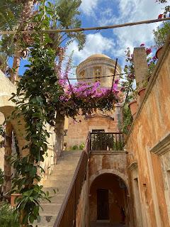 Inside the Agia Triada Monastery.
