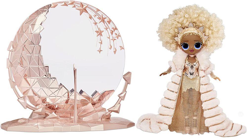 Новогодняя кукла Лол Омг Nye Queen и подставка с подсветкой