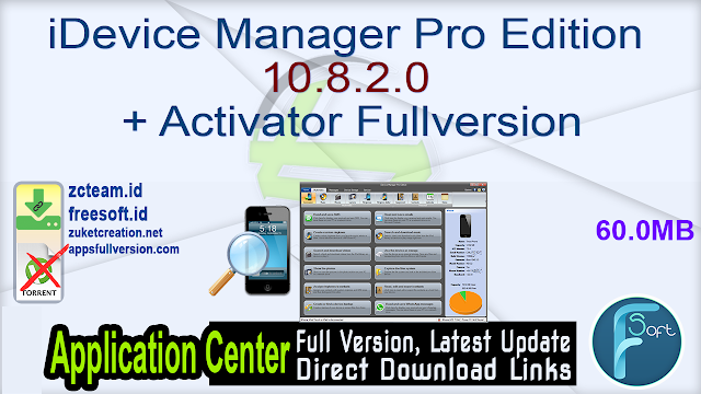 iDevice Manager Pro Edition 10.8.2.0 + Activator Fullversion