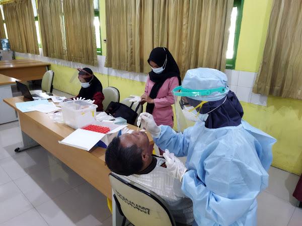 Kegiatan Tes PCR di SMAN 110 Jakarta Tahun 2021