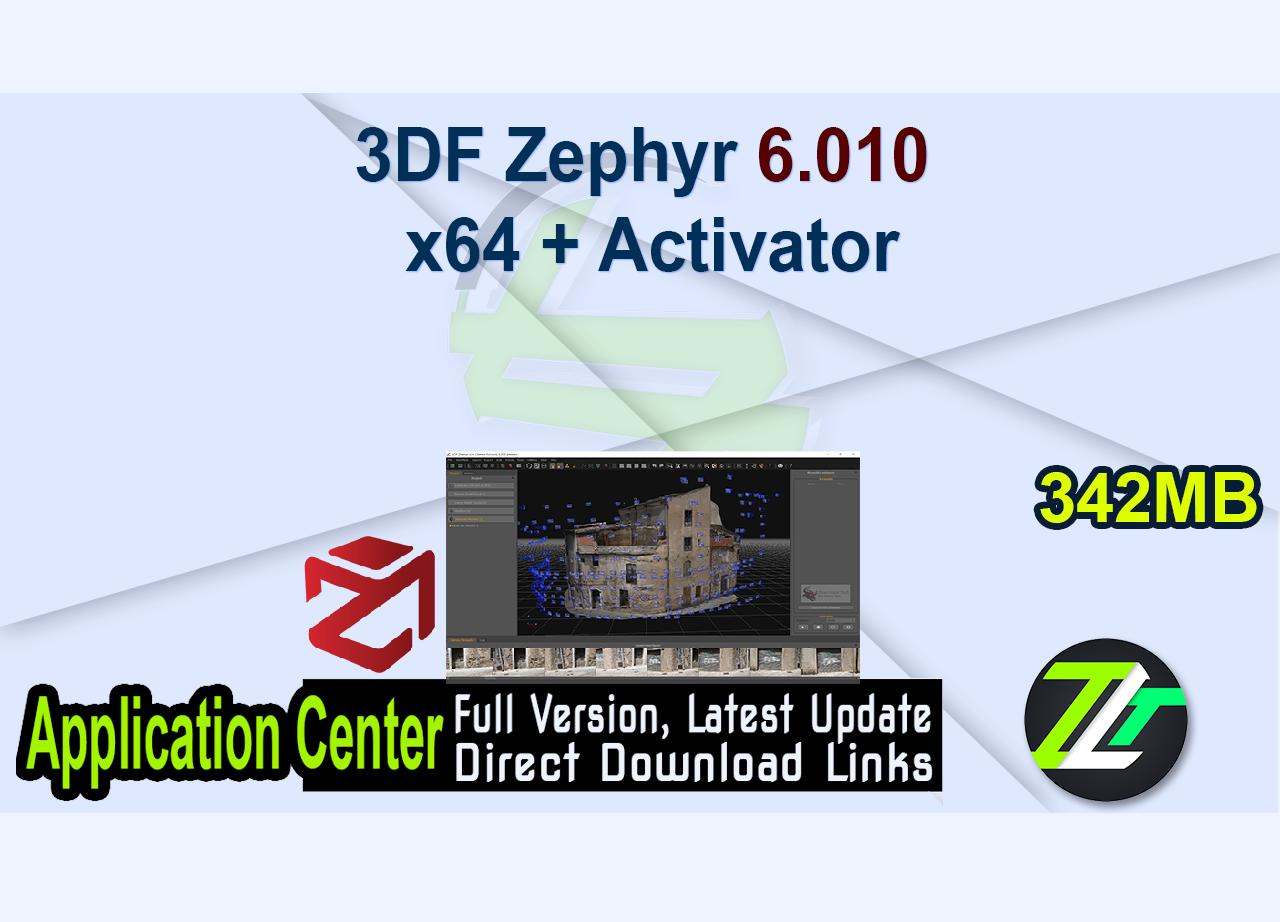 3DF Zephyr 6.010 x64 + Activator