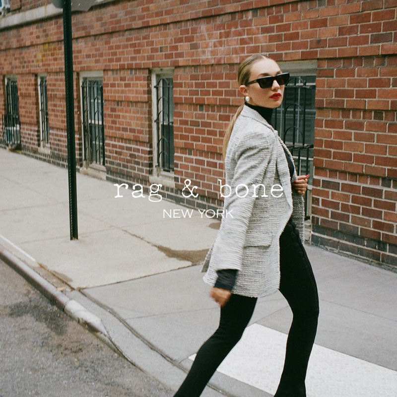 Posing in New York City, Maddie Ziegler appears in rag & bone fall 2021 campaign.