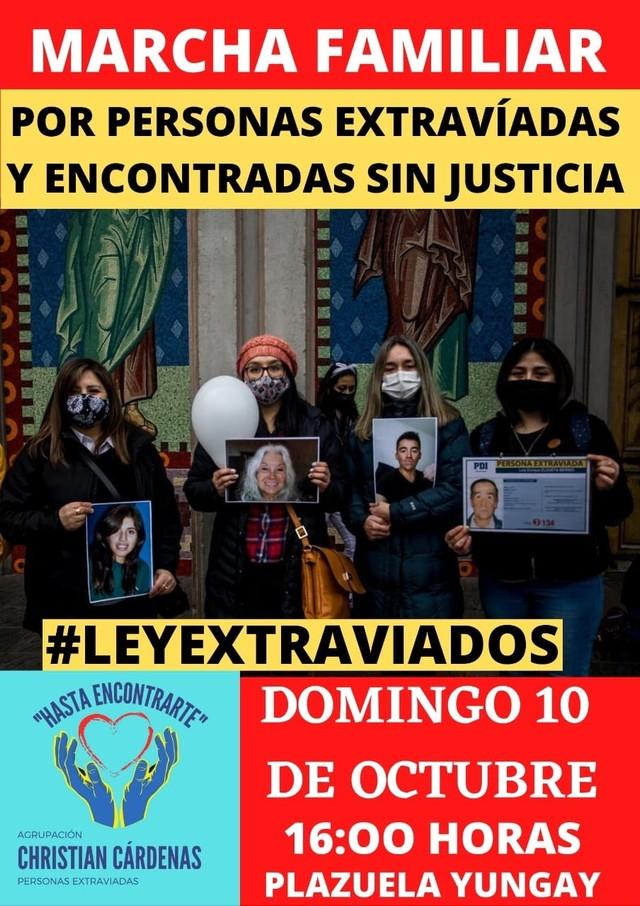 Marcha por casos de desaparecidos en Osorno