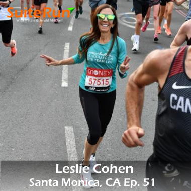 51   Santa Monica, CA with Leslie Cohen: Running in a West Coast Beach Town & Refueling with World Cuisine