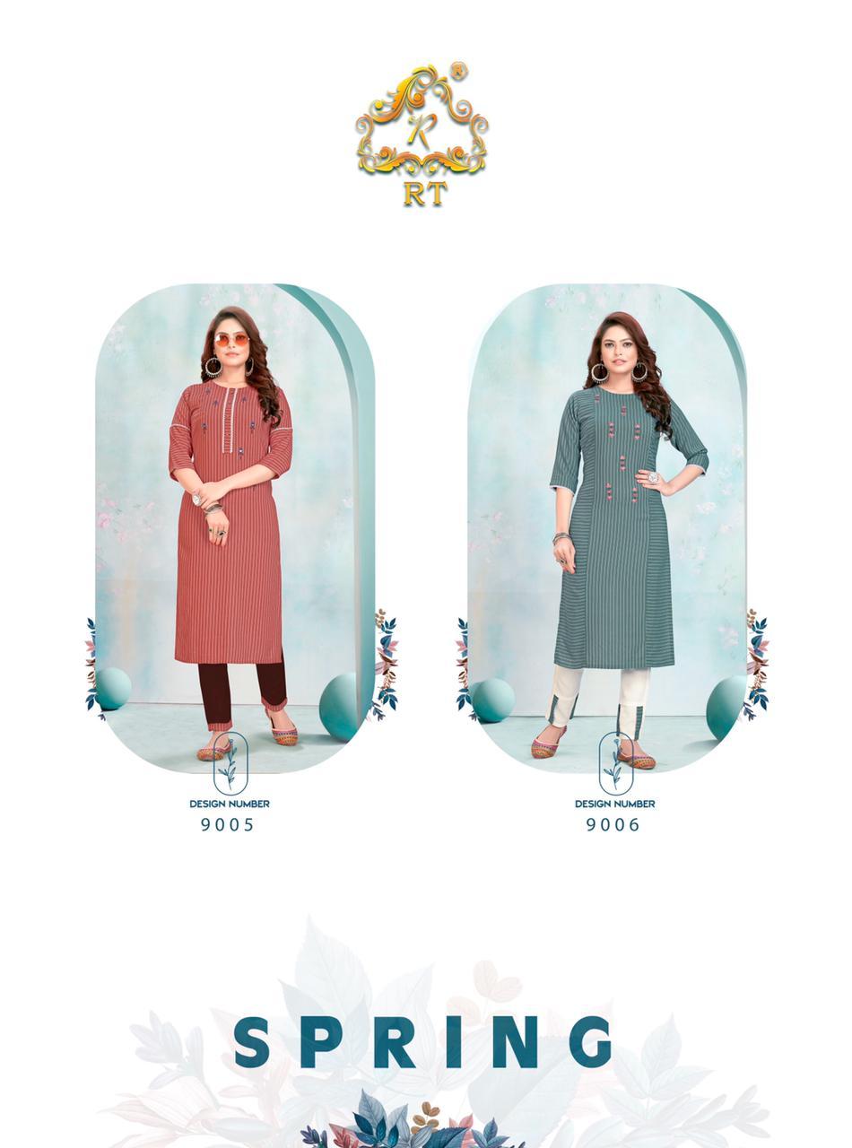 Rijiya Trends Spring Kurtis Pant Set Catalog Lowest Price