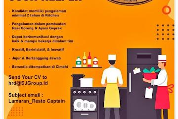 Loker Bandung Cook Helper Waroeng Tjimahi