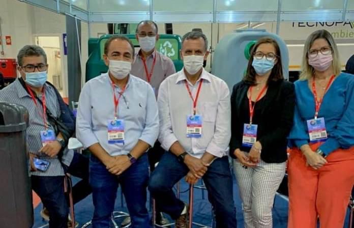 Prefeito Zito Barbosa e secretários participam da Waste Expo Brasil 2021, em São Paulo