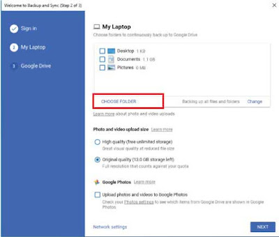 Cara Singkronkan Data Komputer ke Google Drive